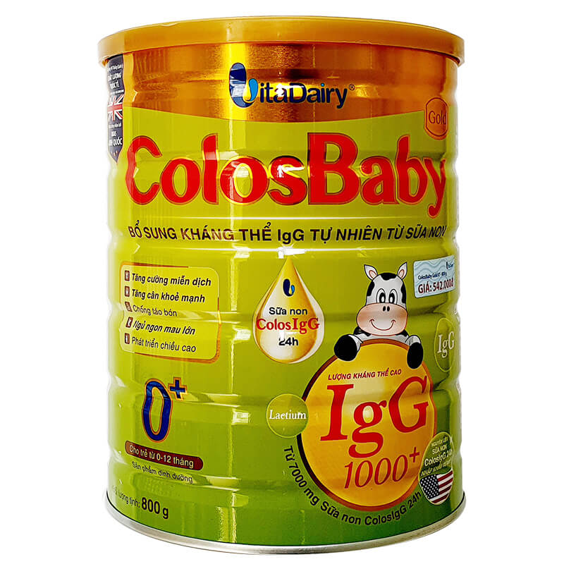 Sữa Colosbaby Gold 0+ 800g